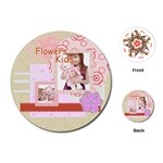 flower kids - Playing Cards (Round)