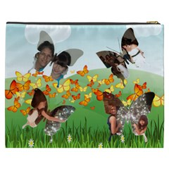 Field Of Butterflies Cosmetic Bag (xxxl) 2 Sides By Kim Blair   Cosmetic Bag (xxxl)   Vnqi20bssq9x   Www Artscow Com Back