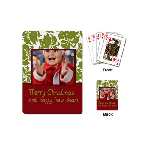 Xmas By Man   Playing Cards (mini)   Tylp8qad2xk6   Www Artscow Com Back