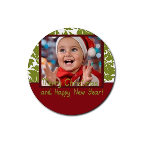 Xmas By Man   Rubber Coaster (round)   Ovld1hvwx7m2   Www Artscow Com Front