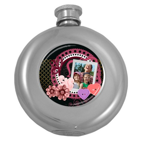 Love By Joely   Hip Flask (5 Oz)   S42z5sgtbk3v   Www Artscow Com Front