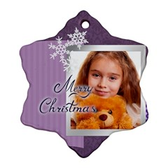Xmas By Joely   Snowflake Ornament (two Sides)   Gfbn6yxprkj2   Www Artscow Com Front