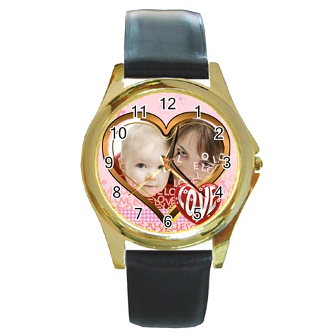 Love By Joely   Round Gold Metal Watch   Ymh5fha14yum   Www Artscow Com Front