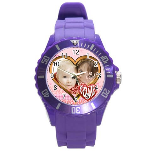 Love By Joely   Round Plastic Sport Watch (l)   Ja4e62pdn6o7   Www Artscow Com Front