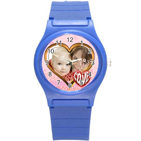 Love By Joely   Round Plastic Sport Watch (s)   9w3j3rrih0b0   Www Artscow Com Front