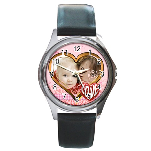 Love By Joely   Round Metal Watch   L3mnlnokxq49   Www Artscow Com Front