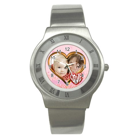 Love By Joely   Stainless Steel Watch   Gg46usfe94ti   Www Artscow Com Front