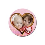 love - Rubber Round Coaster (4 pack)