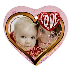 Love By Joely   Heart Ornament (two Sides)   Dh793w62fkzd   Www Artscow Com Back