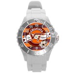 Large Sports Watch_Go Hokies - Round Plastic Sport Watch (L)