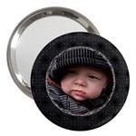 Black Design 3  Handbag Mirror