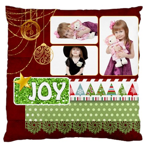 Xmas By Jo Jo   Large Cushion Case (one Side)   Vyh802zr6xh3   Www Artscow Com Front