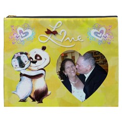 Penguin, Panda Love Cosmetic Bag (xxxl) 2 Sides By Kim Blair   Cosmetic Bag (xxxl)   Qycn2o7daxbn   Www Artscow Com Front