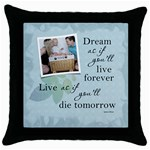 Dream Throw Pillow Case - Throw Pillow Case (Black)