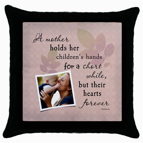 Mother Throw Pillow Case By Lil    Throw Pillow Case (black)   Ybmrftjpmm2k   Www Artscow Com Front