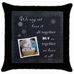 Family Throw Pillow Case - Throw Pillow Case (Black)
