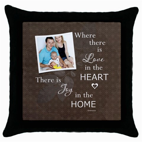 Home Throw Pillow Case By Lil    Throw Pillow Case (black)   Ucoid8900mc9   Www Artscow Com Front