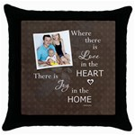 Home Throw Pillow Case - Throw Pillow Case (Black)