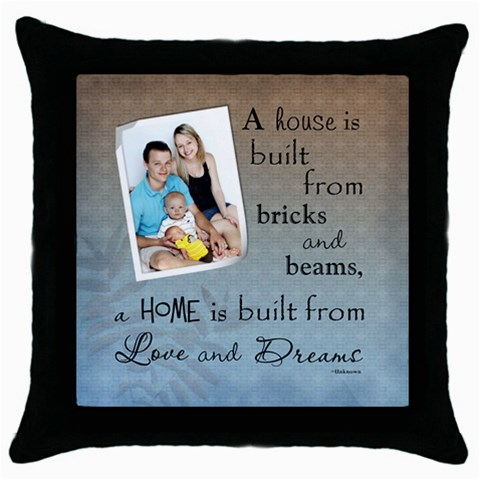 Home And Love Throw Pillow Case By Lil    Throw Pillow Case (black)   Wcrcexpryrgr   Www Artscow Com Front