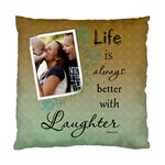 Laughter Cushion Case (1 Sided) - Cushion Case (One Side)