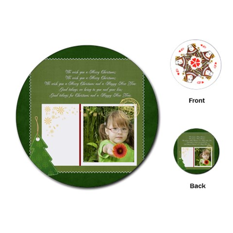 Xmas By Mac Book   Playing Cards Single Design (round)   Y0eqqppekufr   Www Artscow Com Front
