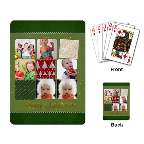 Xmas By Mac Book   Playing Cards Single Design   1urm7avf85x3   Www Artscow Com Back