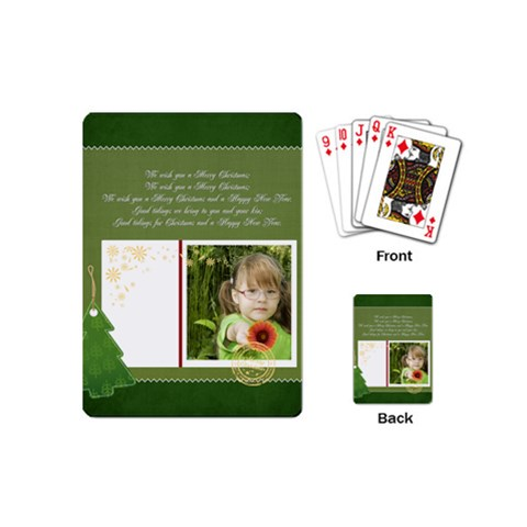 Xmas By Mac Book   Playing Cards (mini)   Fir44c67u5be   Www Artscow Com Back