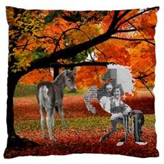 Autumn Scene Large Cushion (2 Sides) By Kim Blair   Large Cushion Case (two Sides)   1t1uk06vc07i   Www Artscow Com Back