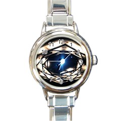 Julia Harwood Submission 3 Round Italian Charm Watch from ArtsNow.com Front