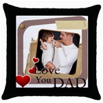 dad - Throw Pillow Case (Black)