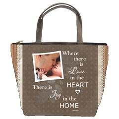 Love In Home Bucket Bag By Lil    Bucket Bag   B5egagx2sp2s   Www Artscow Com Front