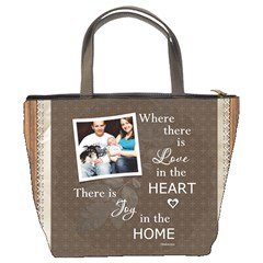 Love In Home Bucket Bag By Lil    Bucket Bag   B5egagx2sp2s   Www Artscow Com Back