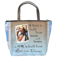 Love And Dreams Bucket Bag By Lil    Bucket Bag   5wmnt9ld8nc1   Www Artscow Com Back