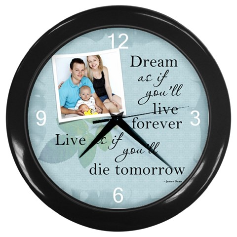 Dream Wall Clock By Lil    Wall Clock (black)   Euwnawovotfq   Www Artscow Com Front