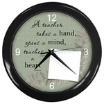 Teacher Wall Clock - Wall Clock (Black)