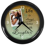 Laughter Wall Clock - Wall Clock (Black)