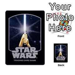 Star Wars Tcg I By Jaume Salva I Lara   Multi Purpose Cards (rectangle)   6ymyslg0hjpb   Www Artscow Com Back 9