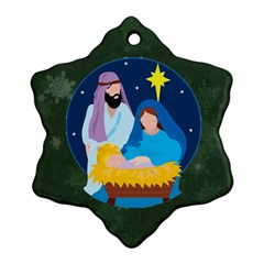 Nativity Snowflake Ornament (2 Sides) By Kim Blair   Snowflake Ornament (two Sides)   R36svtkc0rxi   Www Artscow Com Front