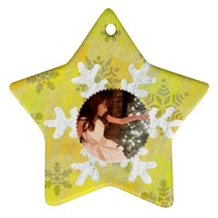 Snowflake Glitter Star Ornament (two Sides) By Kim Blair   Star Ornament (two Sides)   55bs4pn8danr   Www Artscow Com Front