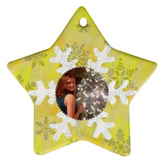 Snowflake Glitter Star Ornament (two Sides) By Kim Blair   Star Ornament (two Sides)   55bs4pn8danr   Www Artscow Com Back