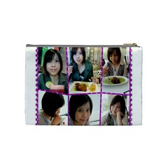 404 By 林雅雯   Cosmetic Bag (medium)   Ervfoiaym096   Www Artscow Com Back