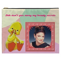Duck Cosmetic Bag (xxxl) 2 Sides By Kim Blair   Cosmetic Bag (xxxl)   Gg4bo7pq1640   Www Artscow Com Front