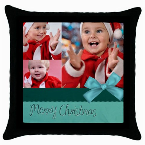 Xmas By Man   Throw Pillow Case (black)   07wzb93memvy   Www Artscow Com Front