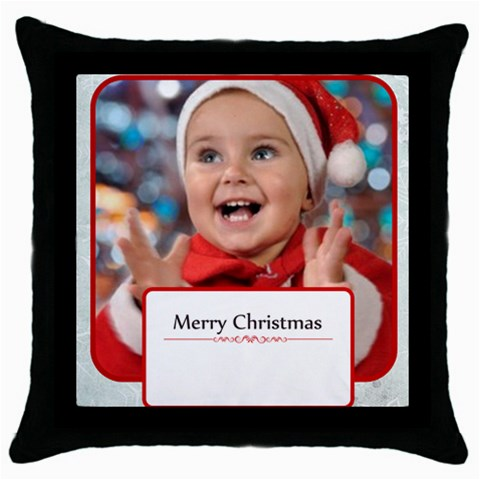 Xmas By Man   Throw Pillow Case (black)   Yud7sdhns3up   Www Artscow Com Front