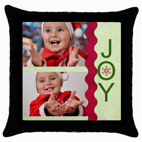 Xmas By Man   Throw Pillow Case (black)   Ufk3qh5dw0yk   Www Artscow Com Front