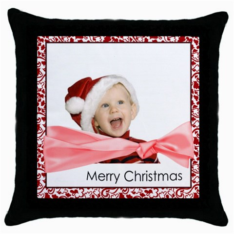 Xmas By Man   Throw Pillow Case (black)   Yk3qfd4h7xgp   Www Artscow Com Front