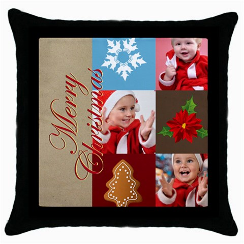 Xmas By Man   Throw Pillow Case (black)   1a8vnini2r9l   Www Artscow Com Front