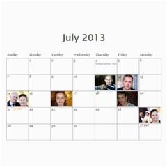Pch2013 By Julia   Wall Calendar 11  X 8 5  (12 Months)   Znmcts3mvsxu   Www Artscow Com Jul 2013