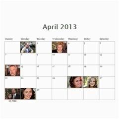 Pch2013 By Julia   Wall Calendar 11  X 8 5  (12 Months)   Znmcts3mvsxu   Www Artscow Com Apr 2013