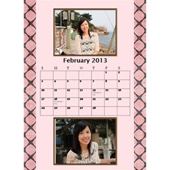 Fanny3 By Posche Wong   Desktop Calendar 6  X 8 5    Z131xv99kxmt   Www Artscow Com Feb 2013